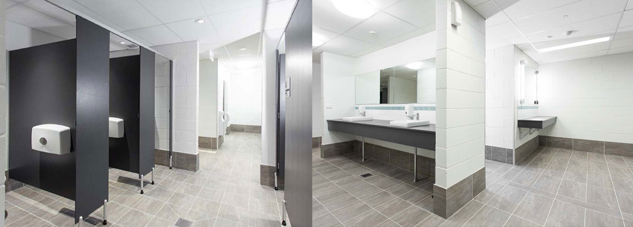 Used bathroom partitions